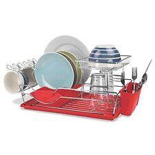 Home Basics Dd44626 2-Tier Dish Drainer Black New