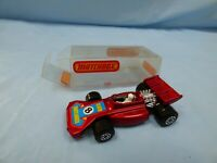 Vintage 1973 Matchbox Superfast No 24 TEAM Matchbox Racing Car n.8 Red Toy Boxed