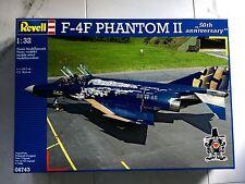 REVELL 1/32 F-4F PHANTOM II 50TH ANNIVERSARY FIGHTER JET MODEL KIT 04743 F/S