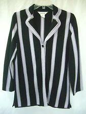 EXCLUSIVELY MISOOK Lavender & Black 1-Button Cardigan Sweater Jacket sz XS