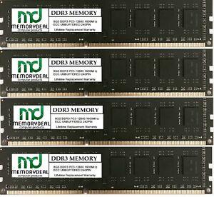 32GB ( 4X 8GB ) MEMORY RAM  DDR3 PC3-12800 1600MHz ECC UNBUFFERED  240 PIN