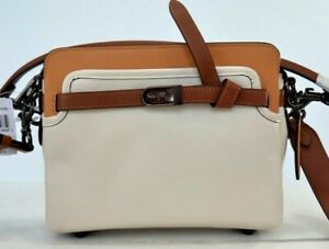 COACH Tate Carryall C2586 Leather Chalk/Natural Colorblock Bag $459.00 #728MIN
