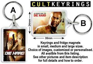 Die Hard keyring / fridge magnet - Bruce Willis