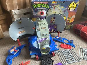 TMNT TMHT Teenage Mutant Ninja Hero Turtles Technodrome With Box Vintage
