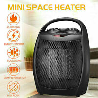 Portable Ceramic Space Heater Mini 1500W Electric Adjustable Thermostat with Fan