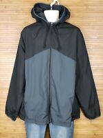 Starter Black And Gray Mesh Lined Windbreaker Jacket Mens Size XL EUC
