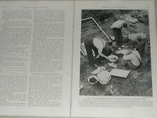 1941 SUTTON HOO magazine article Sutton Hoo ship burial, archeology, Britain
