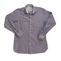 Ted Baker Endurance Mens Button Front Shirt Size 15.5 Long Sleeve Slim Fit