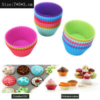 4pcs 7cm Silicone Cake Muffin Chocolate Cupcake Liner Baking Cup Cookie Mold