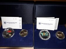 Malaysia Proof coin Set 2 Silver 2set Matching Series no.0074 Tennis Palm Oil