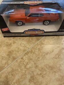 Ertl 1969 Pontiac GTO Judge ORANGE 1:18 Diecast in Box