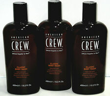 3 X American Crew Classic Body Wash 15.2 oz Trio Set Shower Gel