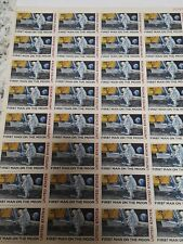 First Man on The Moon Sheet of Thirty Two 10 Cent Airmail Stamps