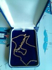 9ct GOLD 16 INCH NECKLACE CHAIN - 3.grams