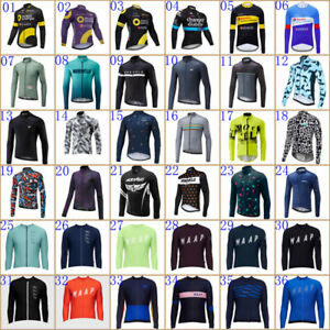 Mens Team Cycling Jersey Cycling Long Sleeve Jerseys Bicycle Shirt Bike Uniform