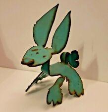 Janey Katz Metal Art Sculpture 2005 KATZ 05 bunny rabbit from 1962 Dodge van