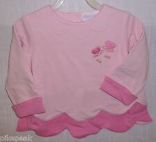 Pullover Top Sz 3 by American Girl Bitty Baby Long Sleeve Pink everyday Cotton