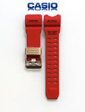 Original Genuine Casio Wrist Watch Red Strap Replacement for GWG-1000GB-4A New