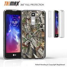 LG K7 Tribute 5 M1 Treasure Clear Slim 360 Full Body Protection Case CAMO