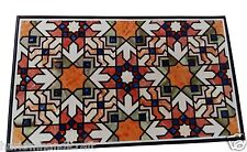 4'x2' Marble Dining Center Table Top Mosaic Marquetry Inlay Art Home Decor H1487