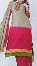 punjabi Cotton Salwar/Kamez - Unstitch Suit Pink-- COLOR