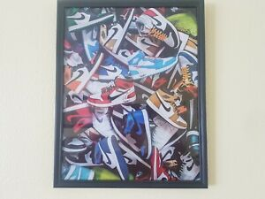 Jordan 1 Shoes Poster Size 11x14 inches