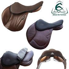 ACAVALLO GEL IN SEAT SAVER - Shock Absorbing Gel Pad Soft Comfort Black/Brown ML