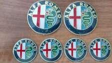 Set of 6pcs Alfa Romeo COLOR emblems logo insignia