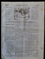Risorgimento Giornale Il Fischietto Torino Unità Nazionale Potere  Papato 1862