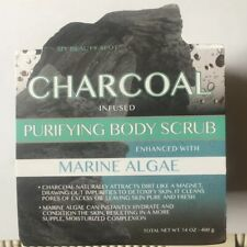 My Beauty Spot Charcoal Infused Purifying Body Scrub With Marine Algae14oz Jar