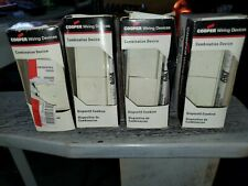 Cooper 7728A-BOX 4 pack Combination Decorator Dble Switch 15A, 120/277V, Almond