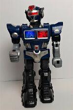 HAP-P-KID Turbo Fighter Blue Robot 2005 *TESTED & WORKING* Lights, Walks & Talks