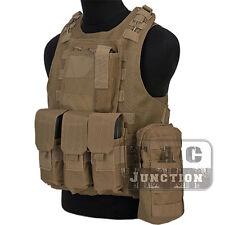 Tactical USMC MOLLE Quick Release Amphibious Combat Assault Body Armor Vest