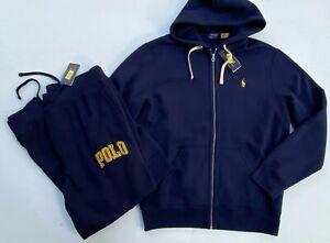 Polo Ralph Lauren Men Size L Fleece Tracksuit Jogger Sweat Pants Jacket NEW