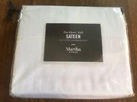 Martha Stewart 400 Thread Count 100% Cotton Sateen Full Flat Sheet White MSRP$40