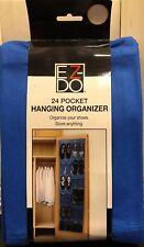 Ez-Do 24 Pocket Hanging Organizer Shoe Organizer Or Storage For Anything