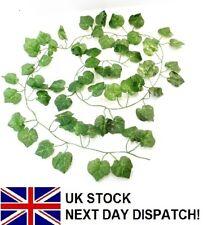 6ft GRAPE Leaf Artificial Trailing Ivy GARLAND GREEN X 12pcs Leaf Fern Foliage
