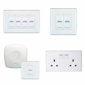 Lightwave LightwaveRF Gen2 Smart Dimmer Switch Power Socket White Metal WiFi Hub