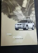 2006 Ford Escape Factory Owners Owner's Manual