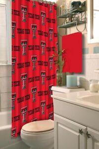Texas Tech Red Raiders NCAA LOGO Shower Curtain (72x72) FREE US SHIPPING
