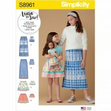 Simplicity Sewing Pattern 8961 Skirts, Doll Clothes K5 (7-8-10-12-14)