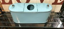 Aqua Enamel Tissue And Toliet Paper Holder- New - Rustic