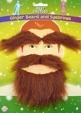 Nuevo barba Jengibre, Ojo Cejas & TASH BIGOTE St-Patrick Irlandés Fiesta De Disfraces