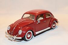 BBURAGO BURAGO VW VOLKSWAGEN BEETLE KAFER COCCINELLE 1955 MAROON MINT CONDITION