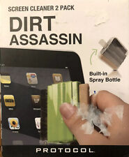 New Protocol Dirt Assassin Screen Cleaners Two Pack Stocking Stuffer Tech