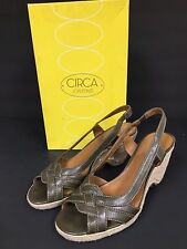 Pre-owned Circa Joan & David Woman Authentic Brand Leather Shoes Green