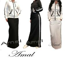 ❤️AMAL Muslim Costume Women Sports Style Maxi Dress Islamic Hijab US Suit Abaya