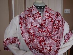 WILD RAG ARM GARTER COTTON RED WHITE PAISLEY PRINT BANDANA OLD WEST COWBOY SASS