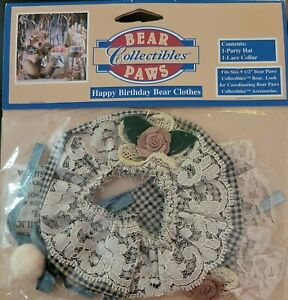 BEAR PAWS Collectibles Sealed. Happy Birthday Bear Colthes