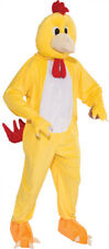 Chicken Plush Mascot Adult Costume Yellow Bird Suit Mens Funny Comical Halloween